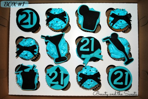 21st birthday cupcakes box 1