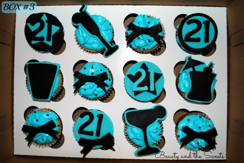 21st birthday cupcakes box 3