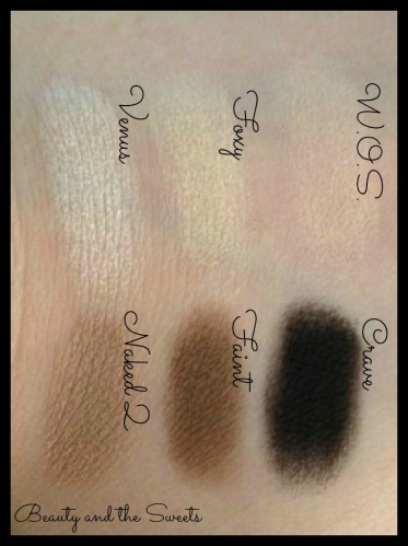 Naked Basics Palette Swatches