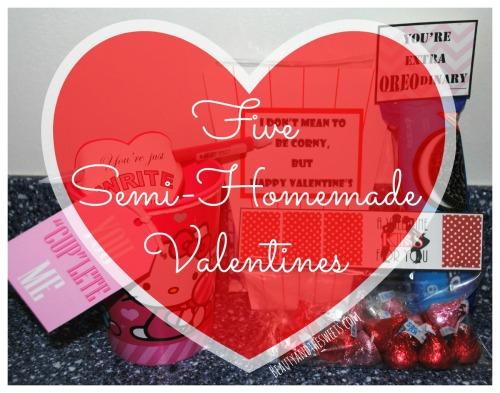 Semi-homemade Valentines Blog post