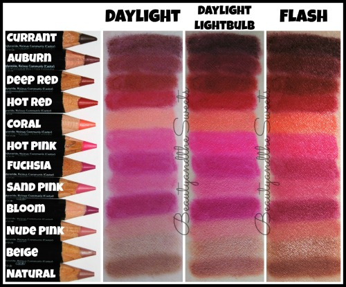 NYX Slim Lip Pencil Swatches