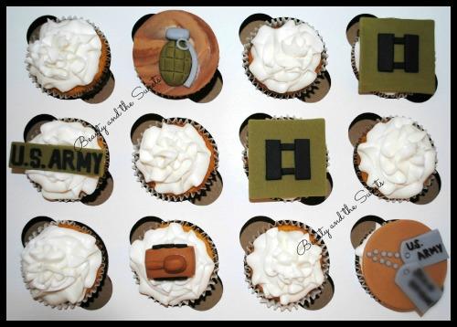 US Army Cupcakes 1