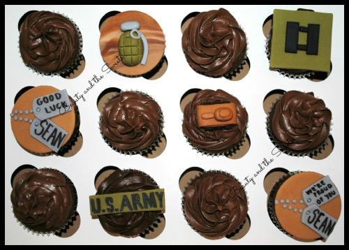 US Army Cupcakes 2