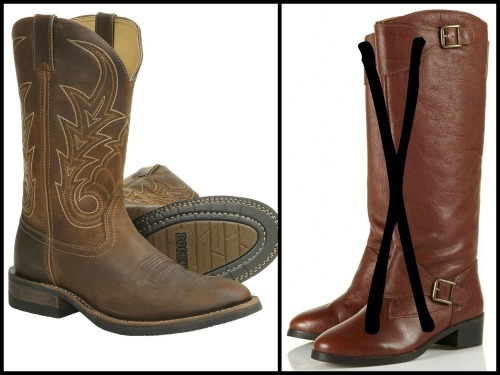 cowboy or riding boots
