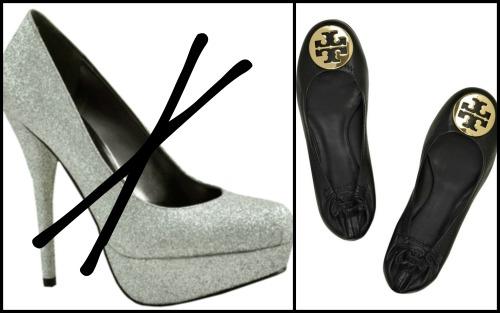 sepatu hak atau flat