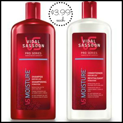 Vidal Sassoon Pro Series Moisture Shampoo and Conditioner
