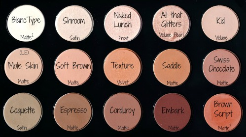 MAC Palette 1 Names